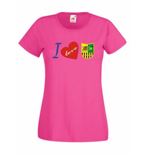 Футболка I love МХ (Я люблю Металлист) женская (малиновая) 1842f069540